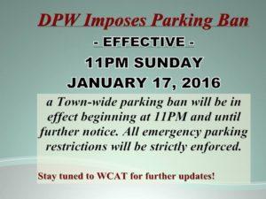 parking ban 1-17-16