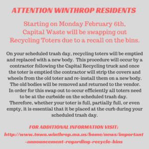 Attention Residents RE- Recycling Bins