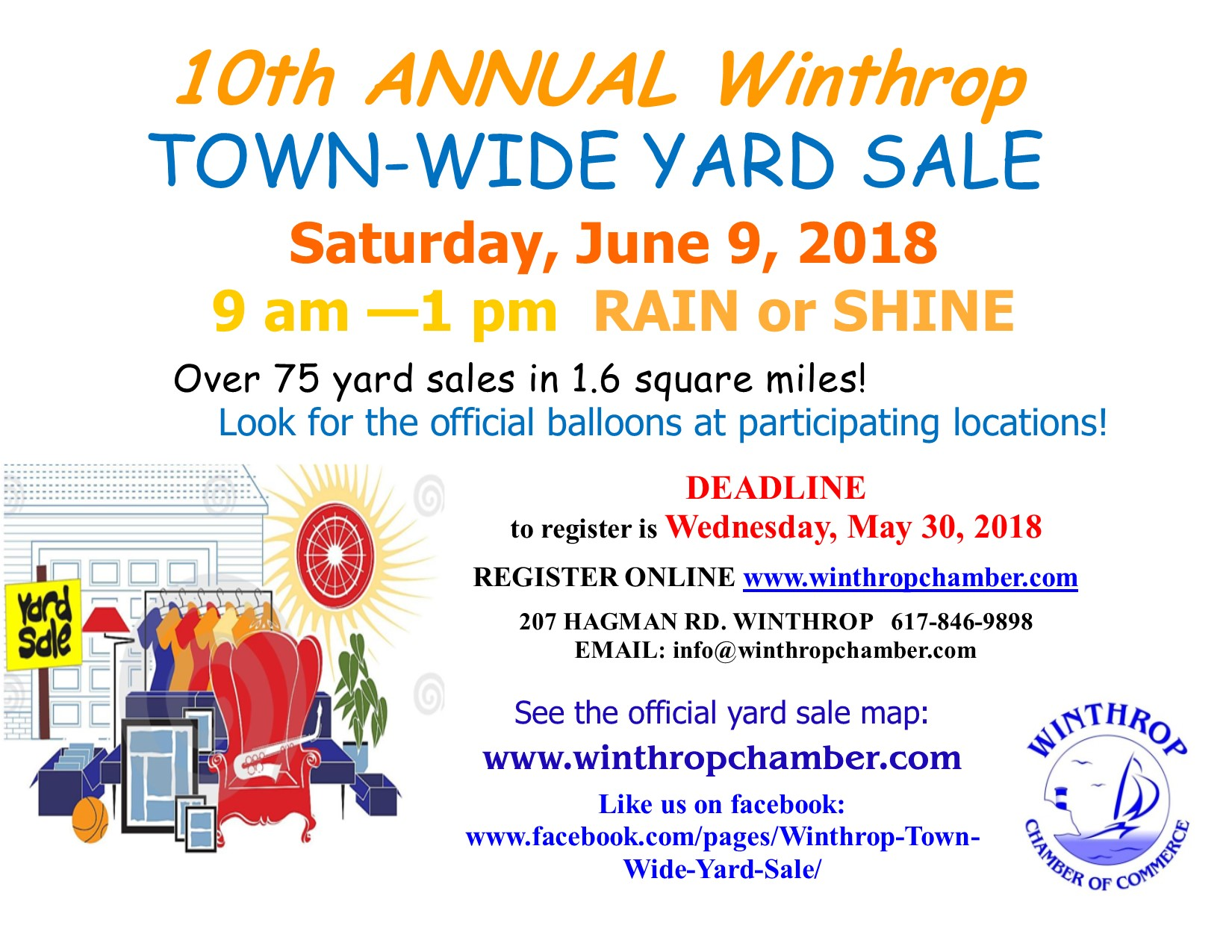 Winthrop Town Wide Yard Sale 2018 - Winthrop Chamber of Commerce